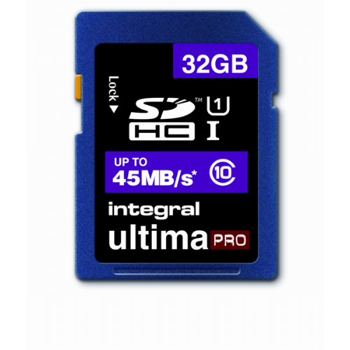 INTEGRAL 32GB SDHC UltimaPro CLASS10  45MB/s spominska kartica