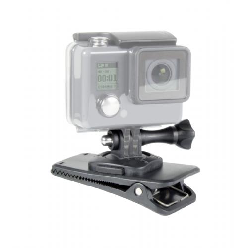 Nosilec s priponko za GoPro črn