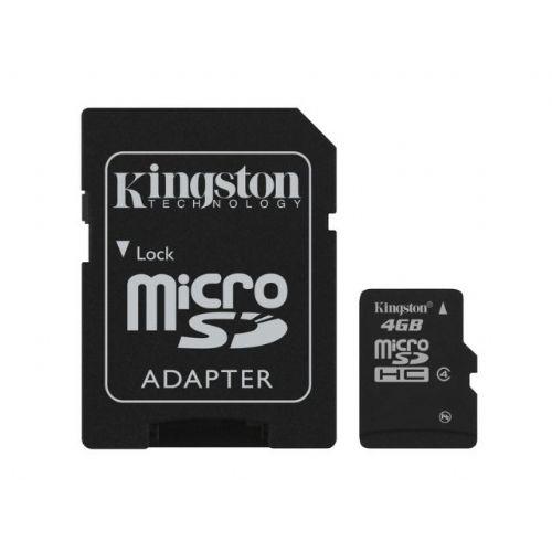 Spominska kartica microSD Kingston 4GB C4 z SD adapterjem (SDC4/4GB)