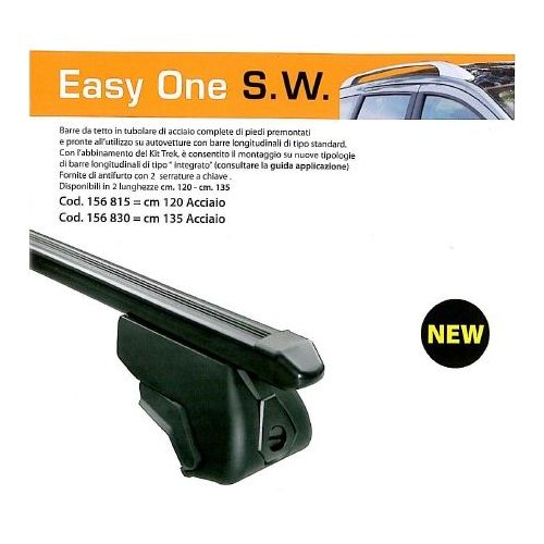 EASYONE črne prečke SW 120cm (ključ x2)