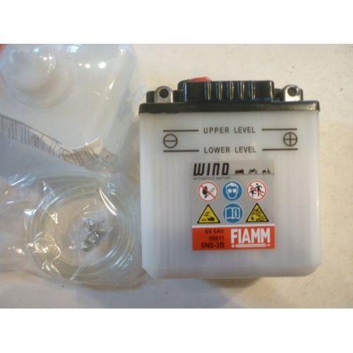 Moto akumulator 6V 6 Ah FIAMM 6N6-3B (98x56x110)