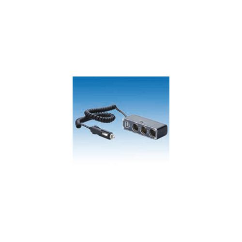 uniTEC Vtičnica za avto s tremi priključki in priključkom USB 2.0