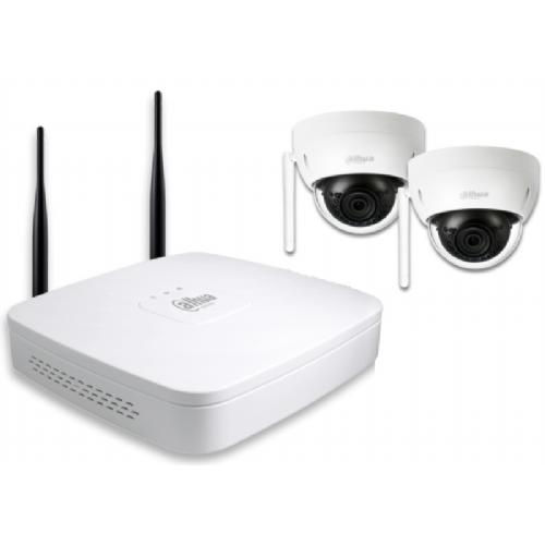 DAHUA IP Wi-Fi video nadzorni komplet (NVR4104-W/2-HDBW1320E-W) - 2 x HDBW1320E-W