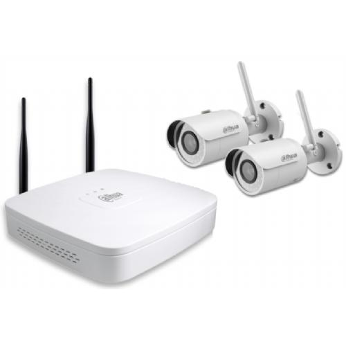 DAHUA IP Wi-Fi video nadzorni komplet (NVR4104-W/2-HFW1320S-W)  - 2 x HFW1320S-W