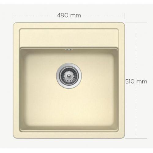 Granitno pomivalno korito SCHOCK Nemo N-100 S crema