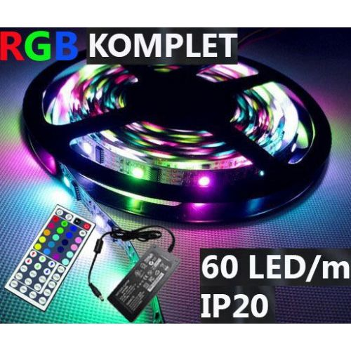 Komplet: LED RGB trak 60LED/m IP20