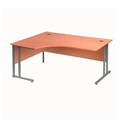 Kotna pisalna miza Flexus: leva: D 1600 mm: kalvados