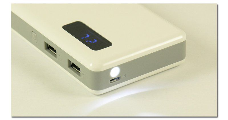 LC-power LC-PB-13000 13000mAH bel powerbank zunanja polnilna baterija