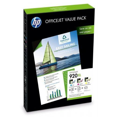 HP CH081AE komplet barvnih črnil 920XL in papirja za OfficeJet 6500A AVT098863