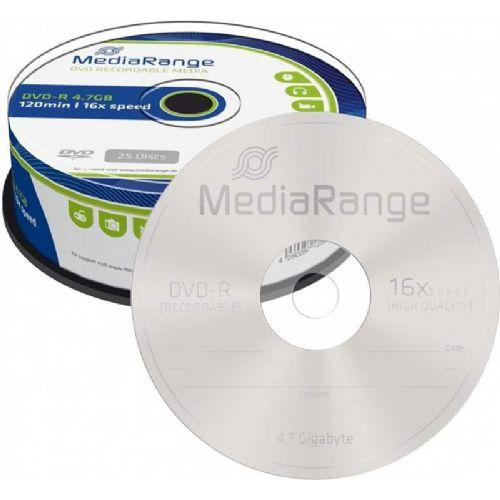 DVD-R MEDIARANGE 4,7GB 1/25 TORTICA