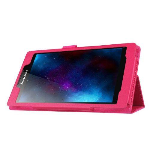 """Eleganten etui """"Litchi"""" za Lenovo Tab 2 A7-20 iz umetnega usnja - roza"""