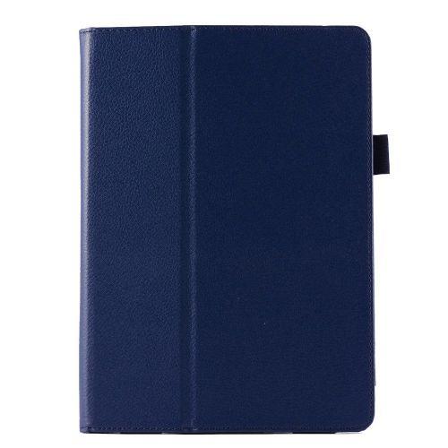 "Eleganten pameten etui ""Smart Litchi"" za iPad Air 2 iz umetnega usnja - temno moder"
