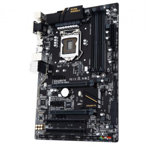 GIGABYTE GA-H170-HD3, DDR4, SATA3, USB3, HDMI, LGA1151 ATX - GA-H170-HD3