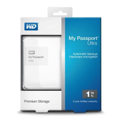Zunanji disk WD My Passport Ultra 1TB (WDBGPU0010BWT-EESN, bel)