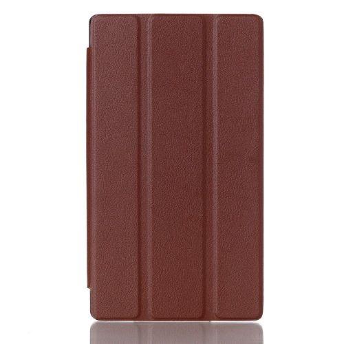 """Izjemno tanek smart etui """"Smooth"""" za Lenovo Tab 2 A7-10 - rjav"""