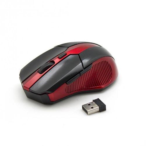 Miška SBOX optična brezžična USB WM-9017 črno/rdeča