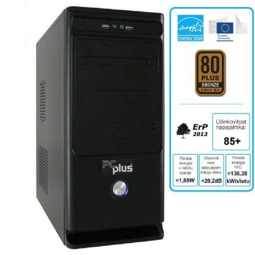 Računalnik PCplus E-Office + W8PRO G3220/4GB/500GB/tipkovnica/miška/Windows 8 Pro + Office H&B 2013