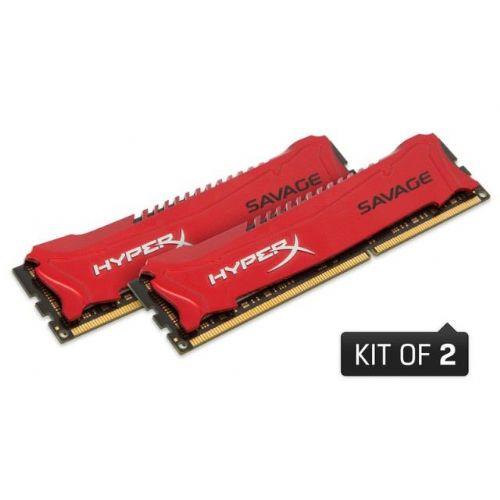 Pomnilniški modul DDR3 HyperX SAVAGE Red 16 GB (2x8GB), XMP, CL9, PC1600 MHz (HX316C9SRK2/16)