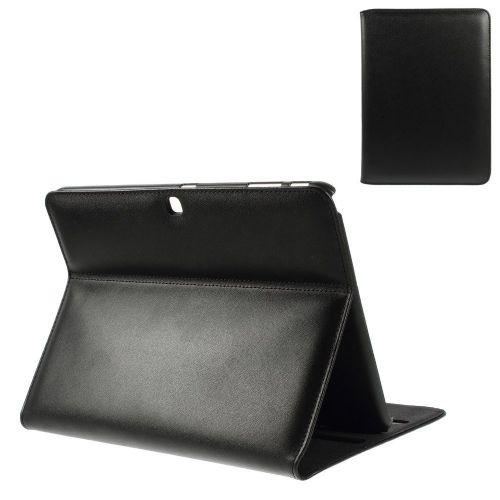 """Premium pametni etui """"Soul"""" za Samsung Galaxy Tab 4 10.1 iz pravega usnja - črn"""