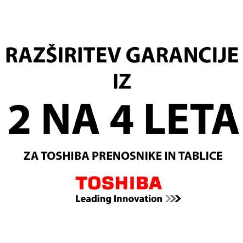 TOSHIBA EXT104I-V iz 2 na 4 leta za prenosnike razširitev garancije