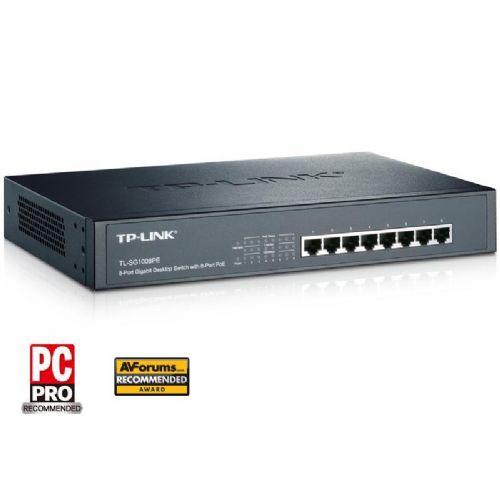 TP-LINK TL-SG1008PE 8-port PoE gigabit rack mrežno stikalo-switch