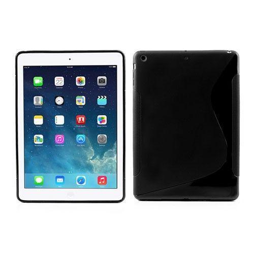 "TPU gel ovitek ""S-Line"" za iPad Air - črn"