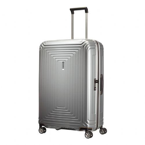 Trd kabinski kovček Samsonite Neopulse na štirih kolesih 75 srebrn 2