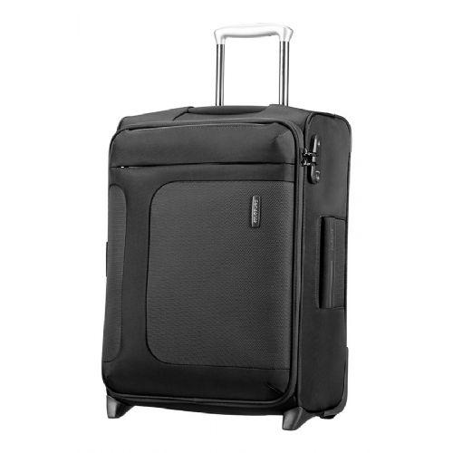 Mehek kabinski kovček Samsonite Asphere na dveh kolesih 55 raztegljiv črn