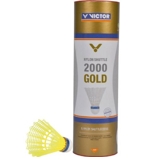 Badminton žogice Victor V-Nylon Shuttle 2000 gold