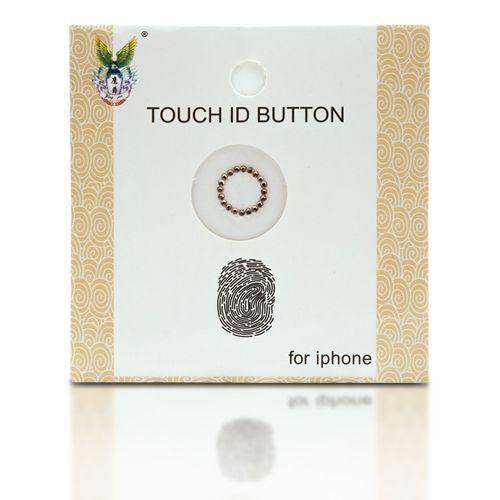 I-button dekorativna nalepka - Gold s kristali