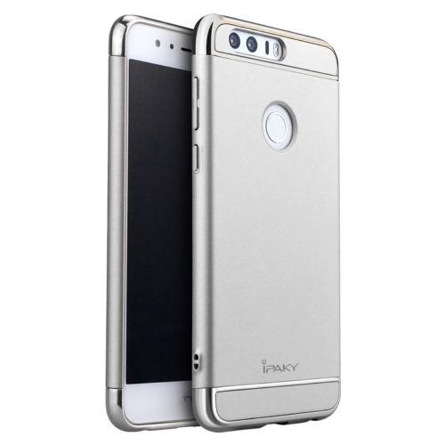 Ipaky trodelni trden TPU ovitek za Huawei Honor 8 - srebrn