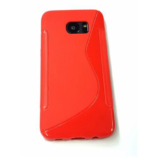 S silikonski ovitek Samsung Galaxy S7 Edge G935 rdeč