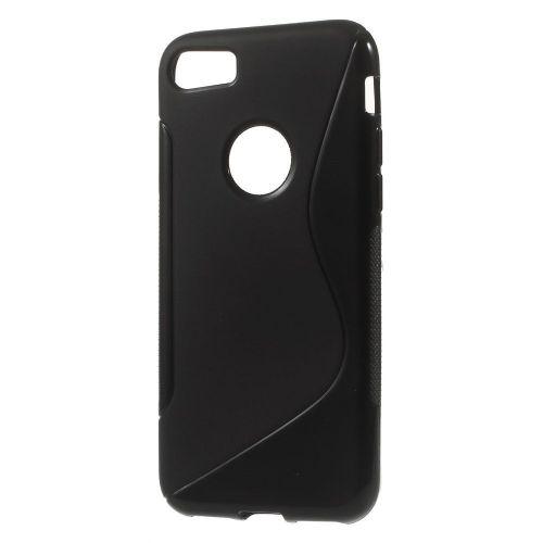 "TPU gel ovitek ""S-Line"" za iPhone 7 - črn"