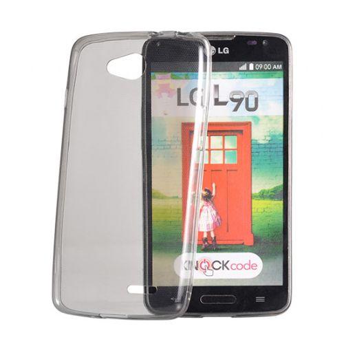 Ultra tanek silikonski ovitek za LG K10 K420N - prozorno črn