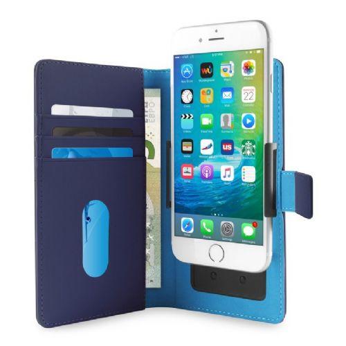 Univerzalna torbica Eco-usnje L modra